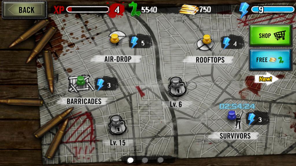 Zombies HQ Mapa