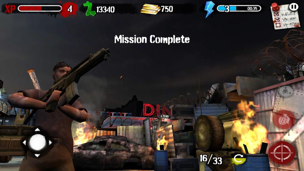 Zombies HQ Misión completada