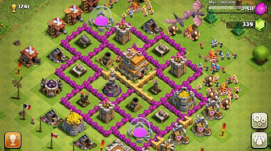 clash-of-clans-muralla-colocacion-defensa