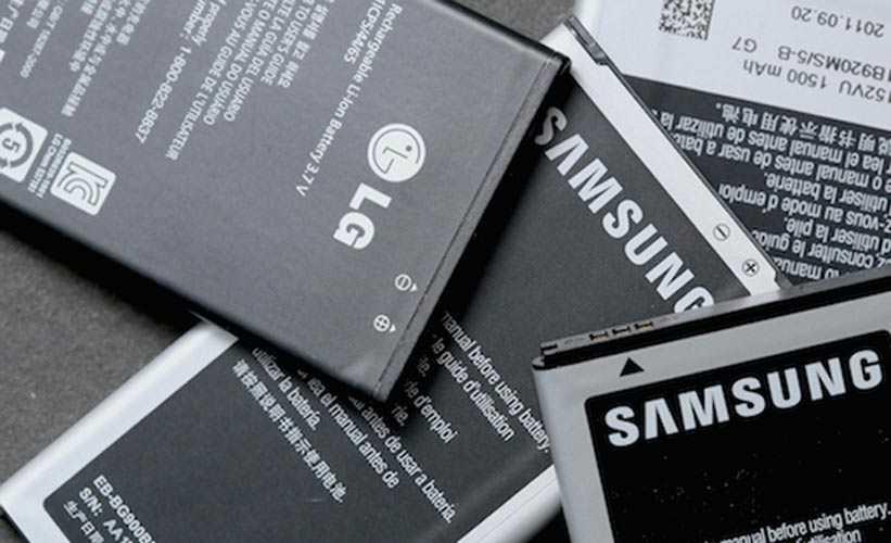 Baterias de litio de smartphones